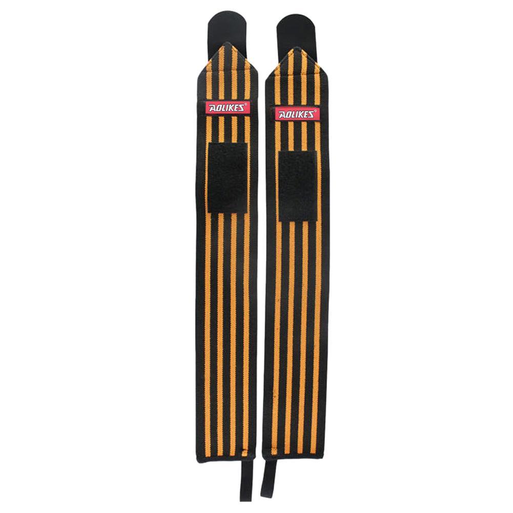 2X Adjustable Sport Gelang Pergelangan Tangan Brace Wrap Perban Tali Gym Orange
