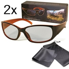 2x Passive 3D Movie & TV Glasses Unisex Black / Orange Circularly Polarized For Reald 3D Cinema and Passive 3D Tvs Like Lg Cinema 3d Philips Easy 3D Sony Toshiba Panasonic Grundig Hisense Finlux etc - intl