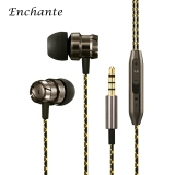 Jual 3 5Mm Hifi Stereo In Ear Metal Music Earphones Noise Cancelling Wired Earphones Bass Stereo Earbuds With Mic Control For Iphone Android Smartphone Intl Original