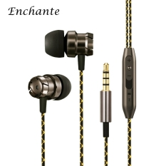 Harga 3 5Mm Hifi Stereo In Ear Metal Music Earphones Noise Cancelling Wired Earphones Bass Stereo Earbuds With Mic Control For Iphone Android Smartphone Intl Oem