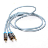 Beli 3 5Mm Jack Mini Stereo Pria Ke 2 Rca Telepon Stereo Audio Speaker Kabel Ice Blue 1 M Kredit Tiongkok