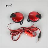 3 5Mm Stereo Shiniq140 Headphone Telinga Hook Earphone Untuk Ponsel Merah Murah