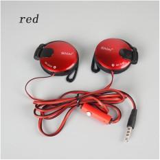 Spesifikasi 3 5Mm Stereo Shiniq140 Headphone Telinga Hook Earphone Untuk Ponsel Merah Oem Terbaru