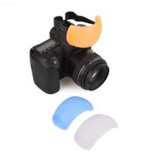 3 Warna Puffer Pop-Up Flash Diffuser Dome untuk Kamera Digital SLR DSLR Universal-Intl