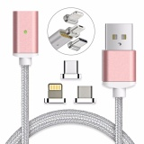 Review Terbaik Magnetic Clip On Usb Fast Charging And High Speed Data Transferis Sync Braided Cable 3 In 1 Magnetic Lightingmicro Usbtype C Mini Metal Connector 1 Magnetic Charging Data Cable 1 Lighting Connector 1 Micro Usb Connector And 1 Type C Connector