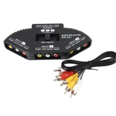 Model 3 In 1 Out Video Audio Rca Av Selector Switch Switcher 1 X Rca Ke Rca Kabel Untuk Xbox Xbox 360 Ps1 Ps2 Ps3 Gamecube Wii Dvd Vcr Hitam Terbaru