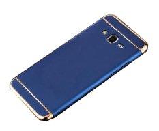 3 In 1 Ultra Tipis dan Casing Keras Ramping Dilapisi Anti Selip Matte Permukaan dengan Electroplate Frame untuk Samsung Galaxy J710/J7 2016 (biru) -Intl