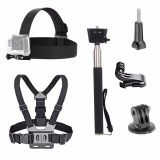 Toko 3 In 1 Universal Waterproof Action Camera Aksesoris Bundle Kit Head Strap Mount Chest Harness Selfie Stick Untuk Olahraga Action Camera Intl Termurah
