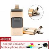 Cara Beli 3 In 1 Usb Flash Drive 128 Gb Memori Usb Metal Pen Drive Untuk Iphone Apple Android Dan Windows Pc Komputer Intl