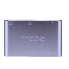 3 In 1 USB Ke HD Multimedia Antarmuka VGA + Audio Video Digital AV Adaptor (Perak)-Intl