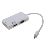Spek 3 In 1 Mini Port Display 1 2 Amp Untuk 4 Kb 2 Kb Hdmi Dvi Dan Adaptor Vga Putih International