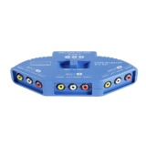 Jual 3 Input 1 Output Audio Video Av Selector Switch Splitter Box Dengan Rca Kabel Biru Intl Branded Murah