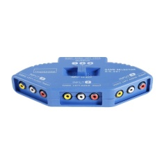 Beli 3 Input 1 Output Audio Video Av Selector Switch Splitter Box Dengan Rca Kabel Biru Intl Murah Di Tiongkok