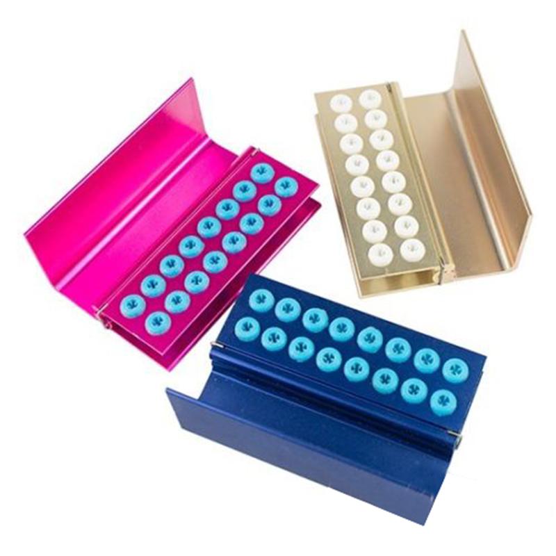 Dapatkan Segera 3 Pcs 16 Lubang Gigi Fg Bur Burs Disinfeksi Autoclave Holder Blok Blok Intl