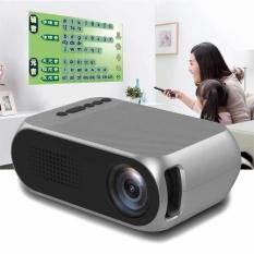 3 Colokan Mini LED Proyektor 600 Lumen TV Home Theater Dukungan Full HD 1080 P-