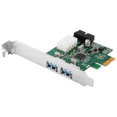 3 Port PCI-E PCI Express 2.0 to USB 3.0 Hub PC Card Adapter 5.0Gbps 19pin Add On Card for Windows XP 7 8 AC319-SZ - intl