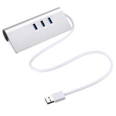 Beli 3 Port Usb3 Hub Dengan Lan Rj45 Adaptor Gigabit Ethernet Adaptor Kabel Lan 1000 M Intl Yang Bagus