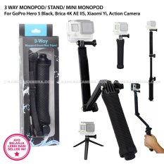 3 Way Monopod Stand Mini Monopod For Gopro Hero 5 Black Brica 4K Ae Iis Xiaomi Yi Action Camera Diskon Akhir Tahun