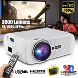 Beli 3000 Lumens Hd 1080P Movie Home Cinema Theater Projector Hdmi Usb Av Vga Sd Intl Lengkap