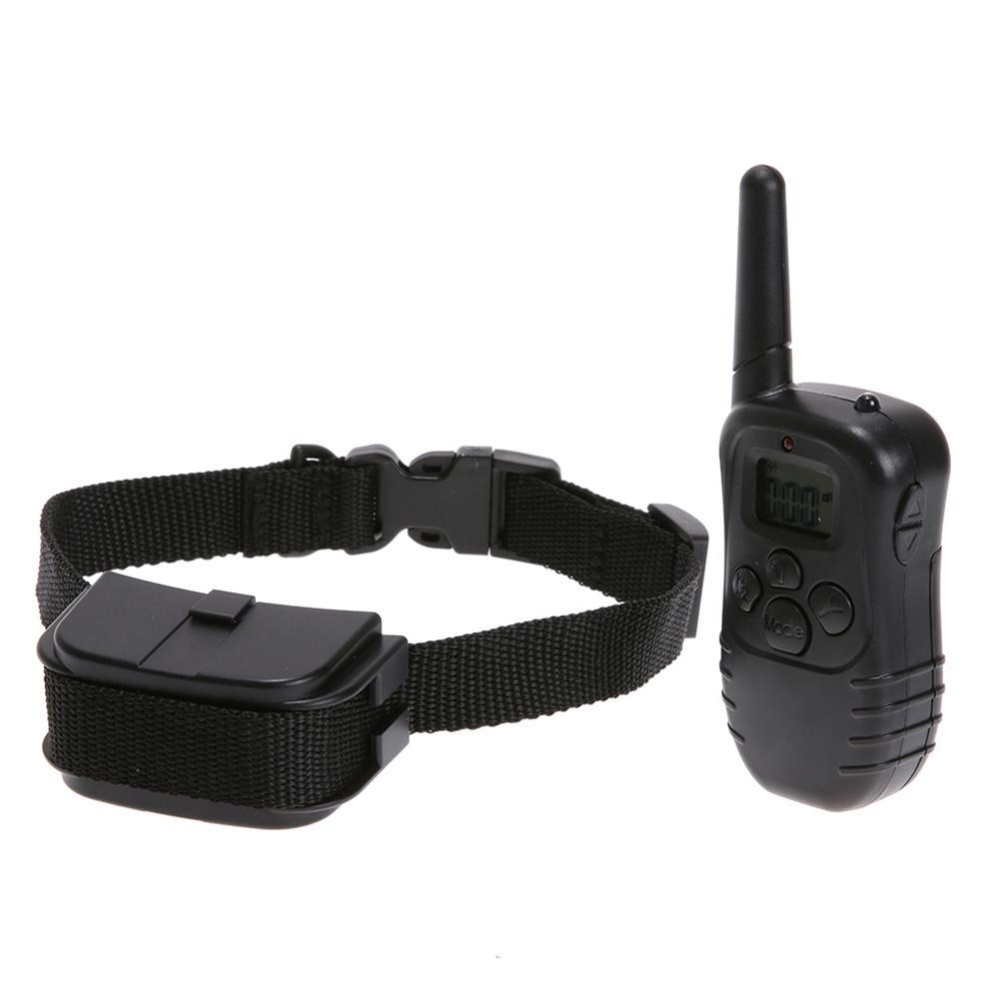 Jual 300M Battery Electronic Remote Dog Anti Bark Training Collar W Lcd Display Intl Termurah
