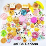 Diskon 30 Pcs Cute Jumbo Medium Mini Acak Licin Soft Phone Straps Decor Hadiah Oem