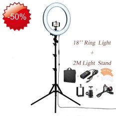 30RANWD 18�x9D RL-18 Outdoor Dimmable Photo Video LED Ring Light Kit -Incl Professional Social Media Photography Studio Light. 6ft Stand.Remote. Heavy Duty Mount for DSLR Camera Fits Iphone6s/6plus/7/7plus Android Smartphones - intl