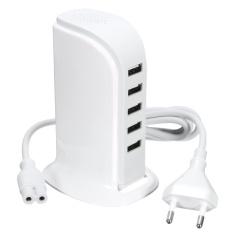 Harga 30 W 6A Usb 5 Port Portable Charger Adaptor Charging Station Untuk Beberapa Perangkat Intl Paling Murah