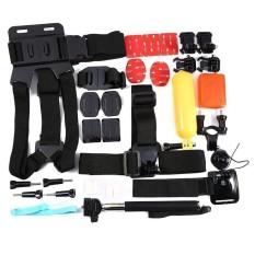 Kamera Aksi 32-Dalam-1 Perlengkapan Aksesori untuk GoPro Pahlawan 4 3 + 3Sj4000Sj5000 Sj6000 Olahraga Kamera- internasional