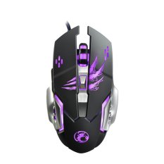 3200 Dpi Makro Pemrograman Adjustable Wired USB LED Gaming Mouse-Internasional