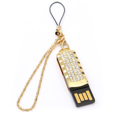 Beli 32 Gb Kristal Putar Usb 2 Flash Drive Penyimpanan Memori Stik Jempol Golden Cicil