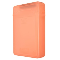 3.5 Inch IDE SATA HDD Hard Disk Drive Plastik Kotak Penyimpanan Sarung Penutup Cover Orange