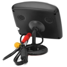 3.5 Inches Mobil Rearview LCD Monitor/E350 Waterproof RearviewCameraSystem W/7-LED-Hitam-Internasional