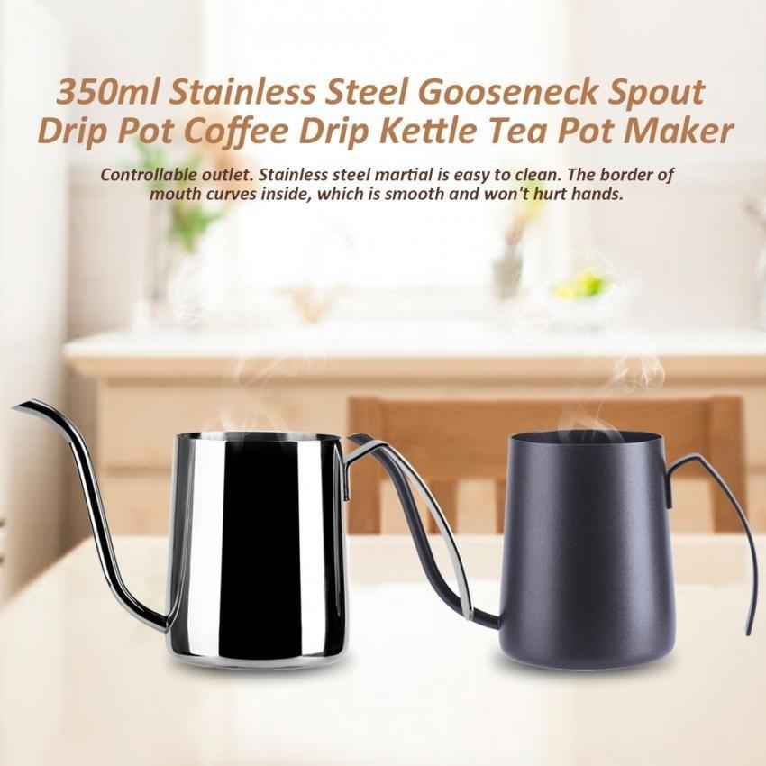 Toko 350 Ml Stainless Steel Tuangkan Hand Coffee Drip Pot Long Gooseneck Moncong Ketel Silver Intl Terlengkap Tiongkok