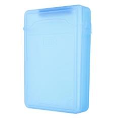 3.5 ''inch IDE SATA HDD Hard Drive Disk Plastik Kotak Penyimpanan Case Enclosure Cover Biru