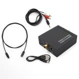 Jual 3 5Mm Digital Coaxial Toslink Optical To Analog L R Rca Audio Converter Adapter Black Intl Oem Branded