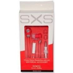 3.5mm Earphone SXS PREMIUM Series W/Mic Merah & Putih Warna-Intl