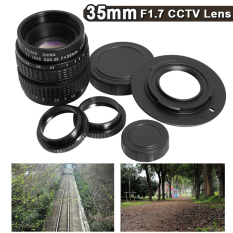 35mm Lensa CCTV F1.7 + C For Micro 4/3 Gunung For E