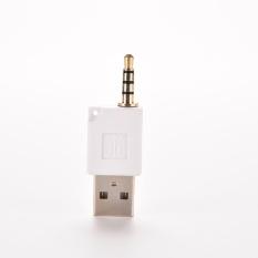 3.5mm MALE AUX Audio Plug Jack Ke USB 2.0 Female Converter Adapter Plug-Intl