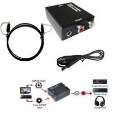 Ulasan 3 5Mm Optical Coaxial Toslink Digital Ke Analog Audio Converter Adaptor Rca L R