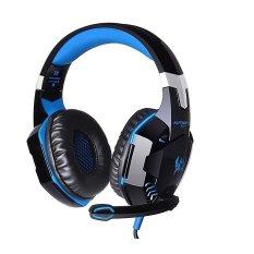 3.5mm Stereo Pro Gaming Headset LED Headphone dengan MIC untuk PS4 PC Laptop-Intl