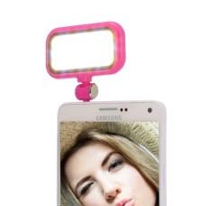 3.5mm Universal Night Using Selfie 21 LED Flash Light, For iPad, iPhone, Galaxy, Huawei, Xiaomi, LG, HTC and Other Smart Phones(Magenta) - intl