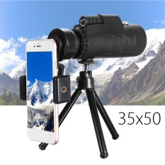Jual 35X50 Monocular Telescope Lens Camera Hd Scope Hunting Phone Holder Tripod Intl Antik