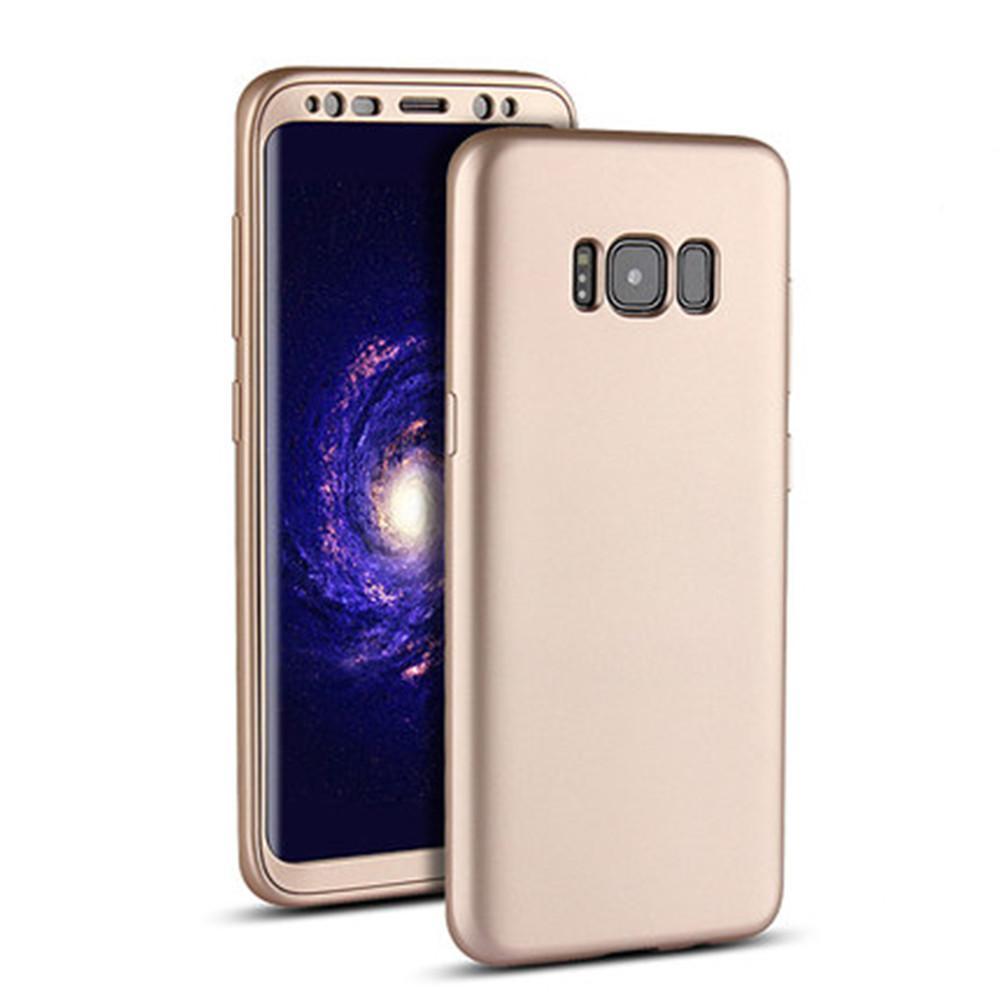 360 ° Full Cover Disepuh Rubber Case untuk Samsung Galaxy S8 Plus 6.2 Inci GD-
