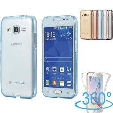 360 Derajat Full Body Depan dan Belakang Menutupi Non-slip Shock-penyerapan Pelindung Kulit Shell Transparan Lembut TPU Case untuk Samsung Galaxy J3 (2016) /J310-Intl
