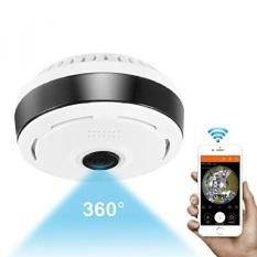360 Derajat Kamera Panorama Wifi Kamera IP Dalam Ruangan Nirkabel Fisheye Pemantau Bayi dengan Modus Malam 2-Way Audio untuk Anak-anak dan Hewan Peliharaan Kamera Keamanan Rumah Sistem dengan IOS/Android Aplikasi untuk Daerah Besar Monitoring-Intl