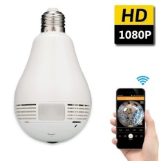 360 Derajat Panoramic1080P Wireless WIFI IP Kamera Light Bulb Lamp Mini Kamera Keamanan 1.3MP Fisheye