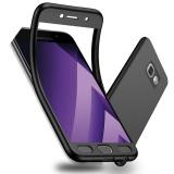Ulasan Tentang 360 ° Full Body Case Cover Untuk Samsung Galaxy A5 2017 A520 5 2 Soft Tpu Matte Finish Liputan Penuh Perlindungan Dengan Pelindung Layar Anti Gores Hitam Intl