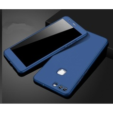 360 Full Body Coverage Protection Hard Slim Ultra-thin Hybrid Case Cover & Skin with Tempered Glass Screen Protector for Huawei P9 Plus (Blue) - intl