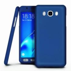 360 Full Body Protection Hard Slim Case Dilapisi Non Slip Matte Permukaan dengan Pelindung Layar Anti Gores untuk Samsung Galaxy J5 2016/J510 (Biru) -Intl