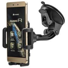 360 Rotary Kaca Depan Kaca Car Holder Mount untuk Huawei Ascend P8 Lite P9 Max Mate 8 Honor Phone GPS Universal Suction Stand-Intl
